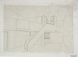 Perspective intérieure -Maison Des Artisans - LeCorbusier