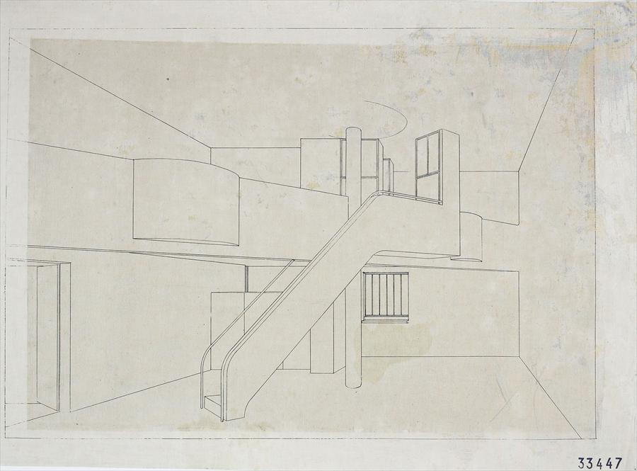 Perspective intérieure ,Maison Des Artisans , LeCorbusier